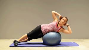 Exercises 6 with an aerobic ball