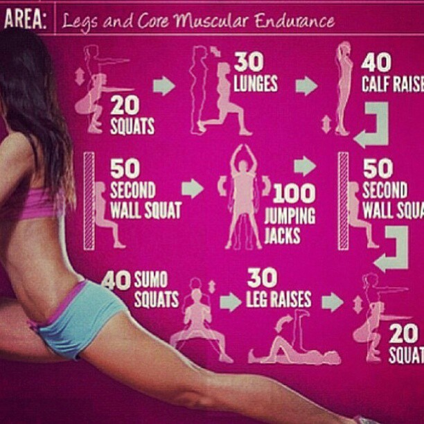 Legs and Core muscular Endurance
