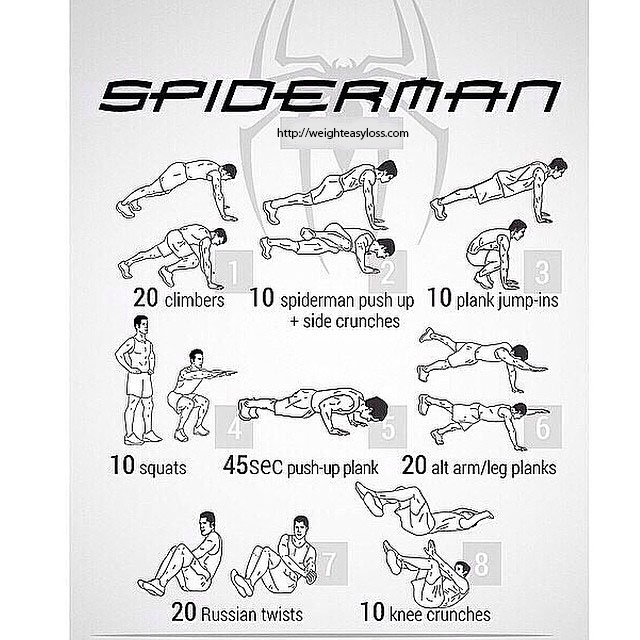 exercise spiderman