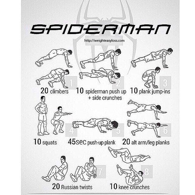 exercise spiderman