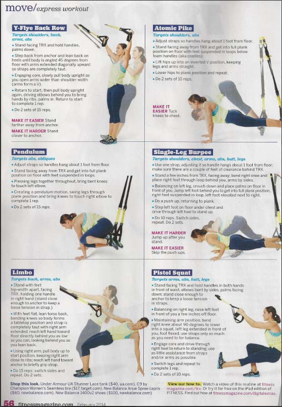 Express workout TRX