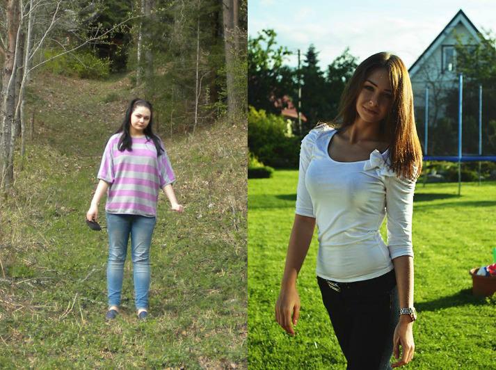 She changed herself!