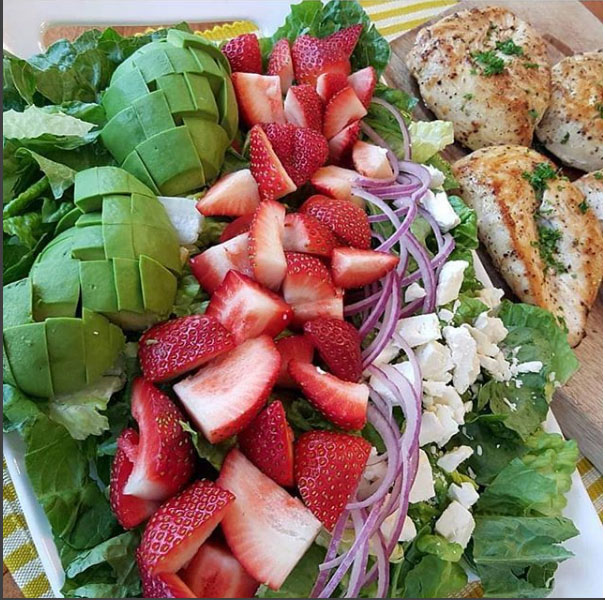California Cobb Strawberry Salad