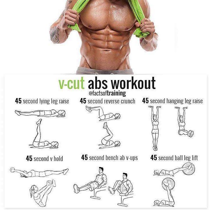 V-cut ABS workout