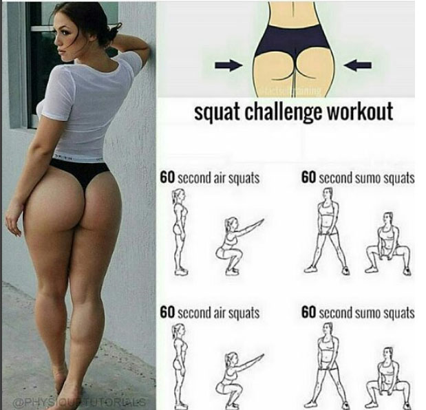 Squat challenge workout !