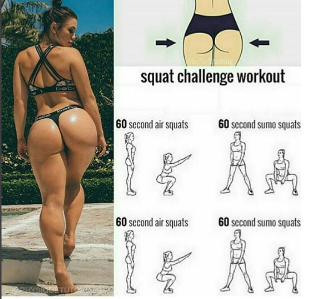 Squat challege workout