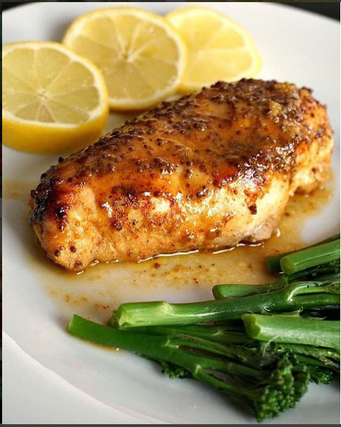 Baked Honey Mustard Chicken Breast with a Touch of Lemon