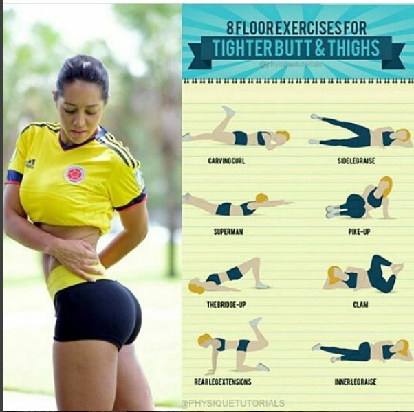 Exercises for Tighter butt & Thighs