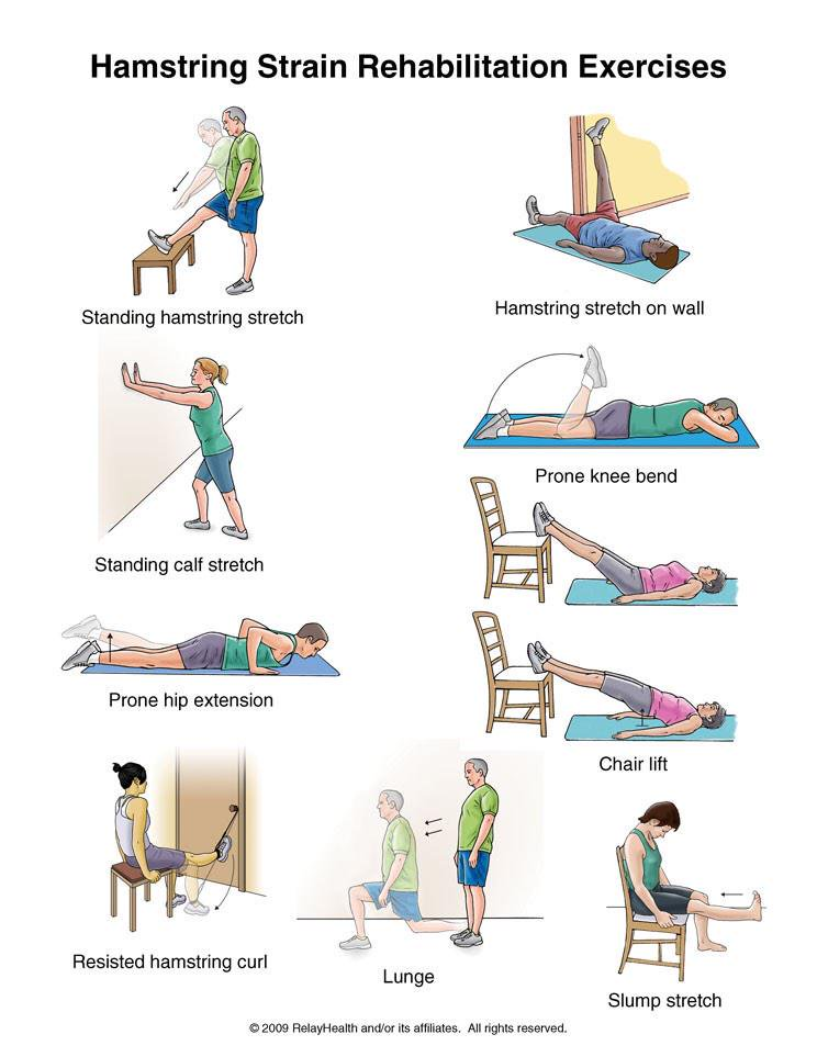 Hamstring Strain Rehabikitation Exercises