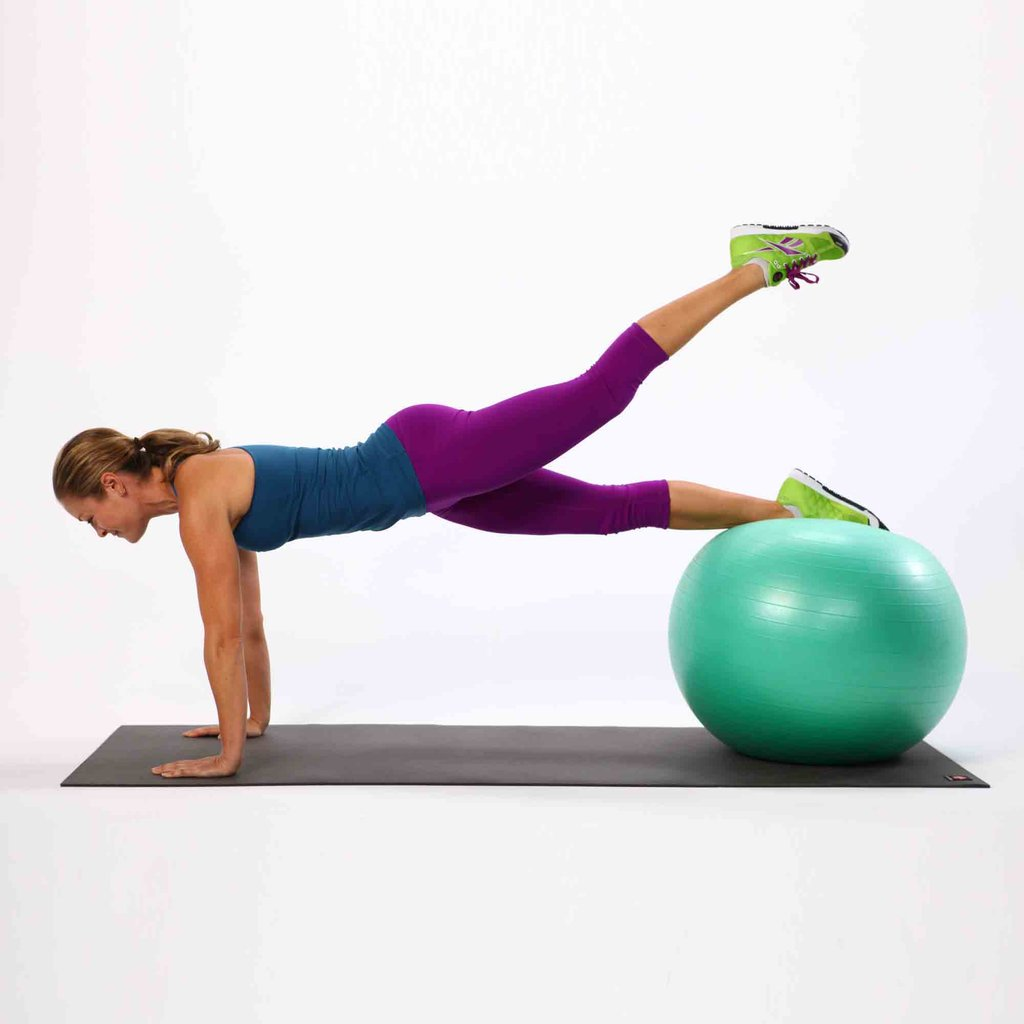 Exercises 1 with an aerobic ball
