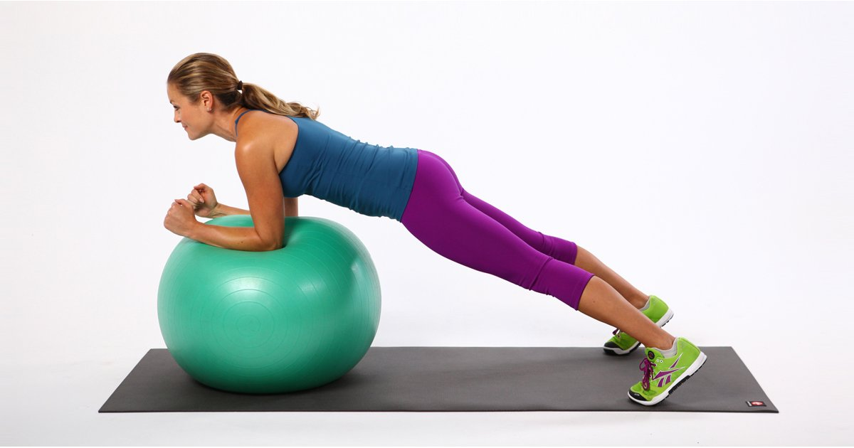 Exercises 2 with an aerobic ball