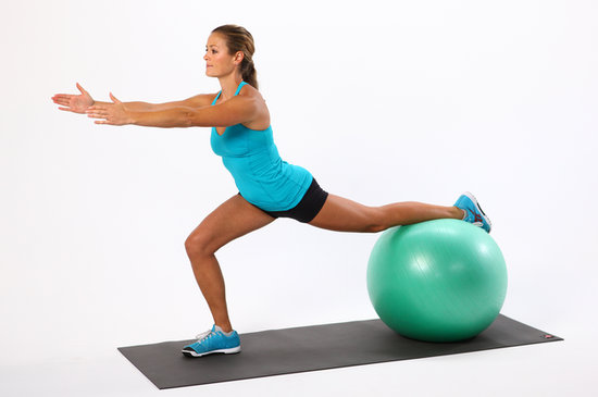 Exercises 3 with an aerobic ball