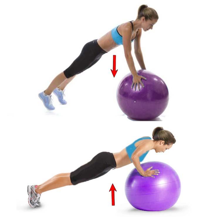 How to Ball Push-ups