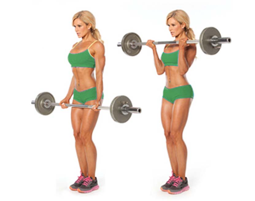 How to Women Barbell Curl
