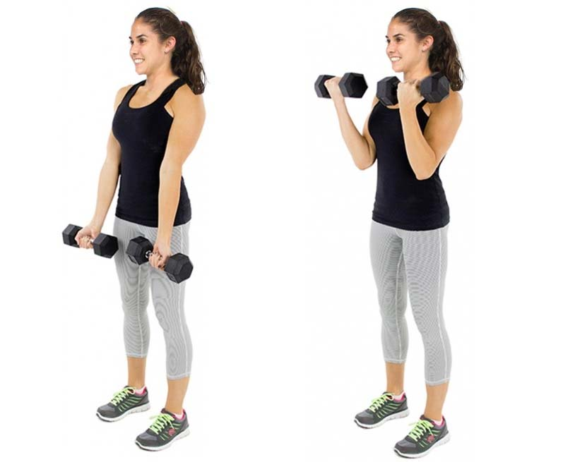 How to Dumbbells Curls
