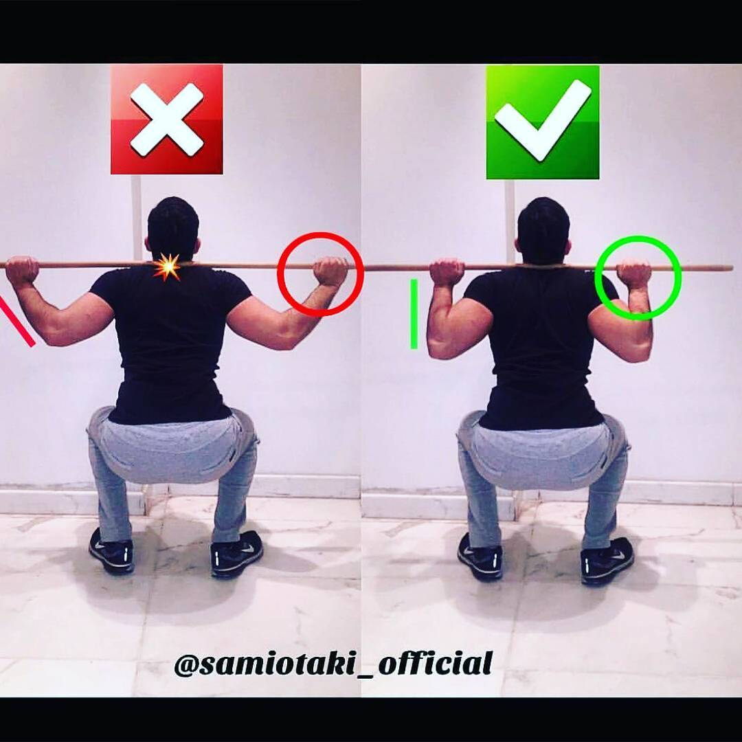 correctness of the squat exercise
