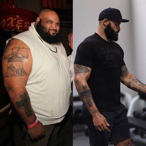 a strong man lost weight