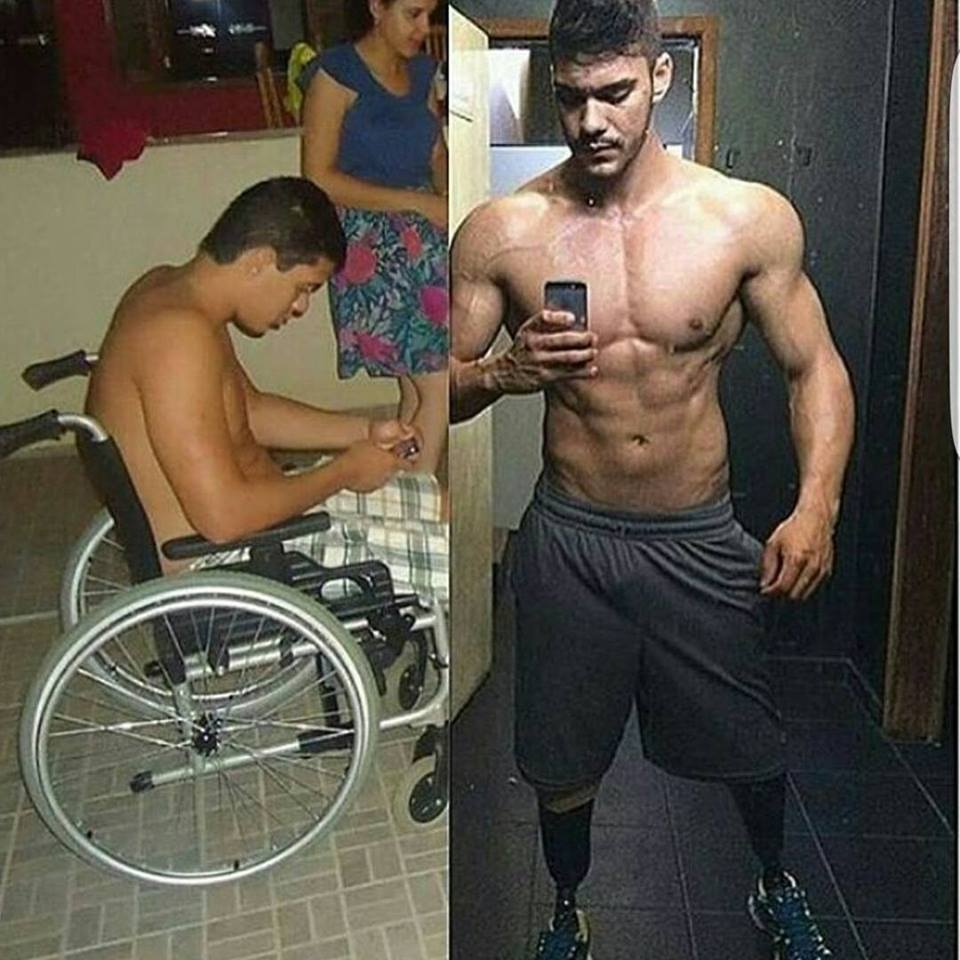 the guy changed from a wheelchair