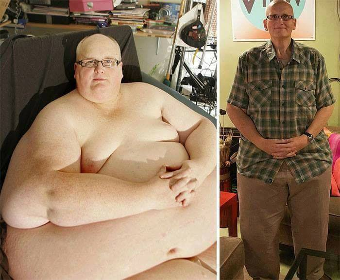 incredible changes weight loss men