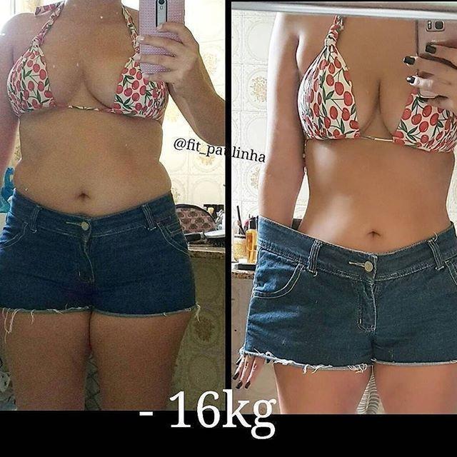She lose -16kg