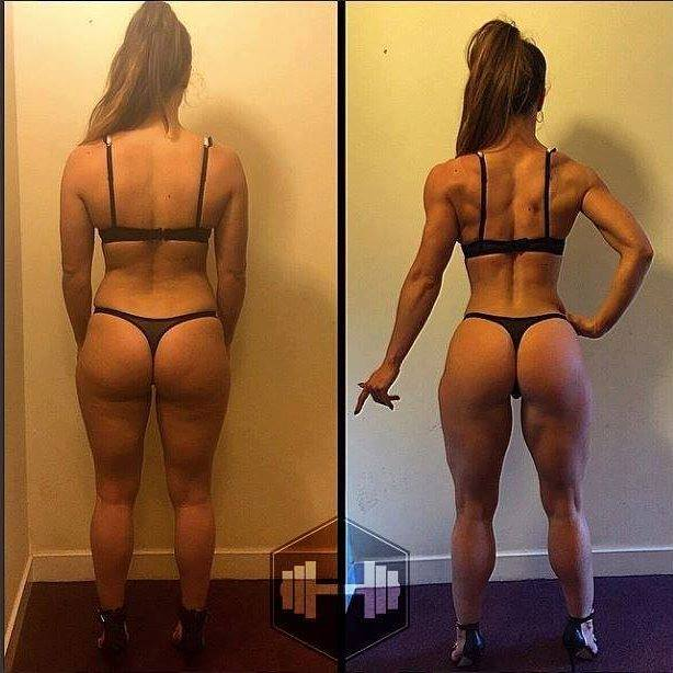 an ideal figure before and after