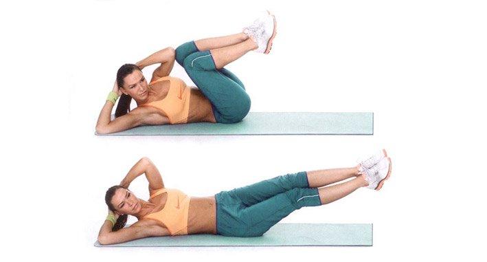 Twisting legs lying on the side