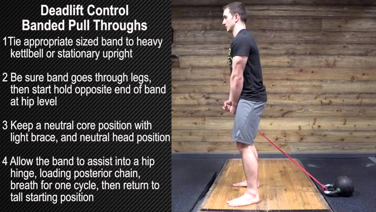 Deadlift Control - Banded Pull Throughs