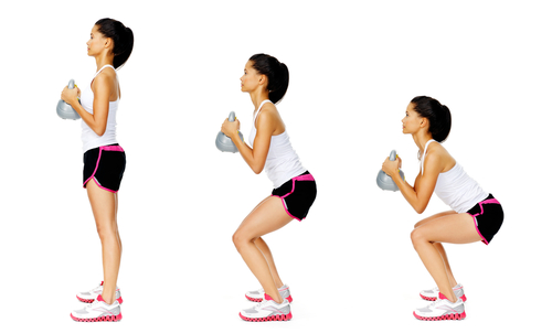 Front Squat Kettlebell Workout