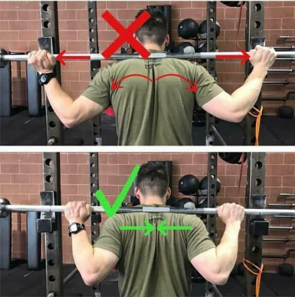 position of hands on barbell