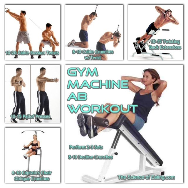 Workout Machine For Abs In Gym