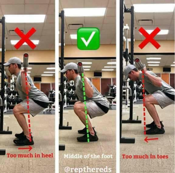 correct position with squats