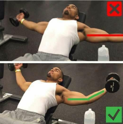 correctness of the exercise of the arrangement of dumbbells
