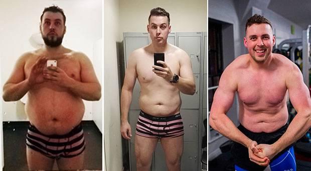 Irish guy shows complete body transformation