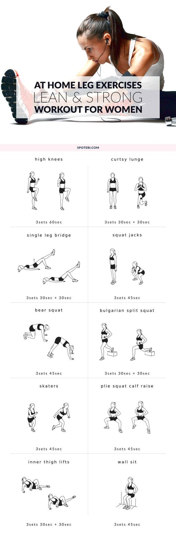 At Home Leg Exercises For Women