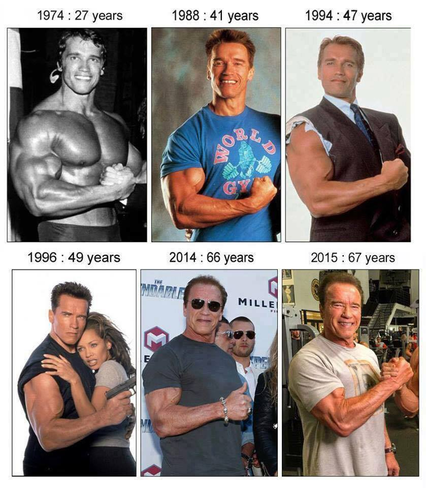 Arnold Schwarzenegger through the years