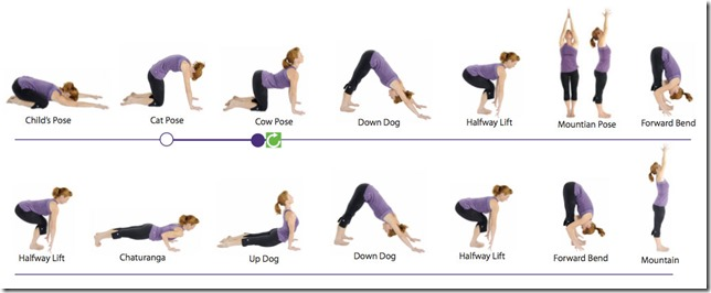 Yoga and stretching at home