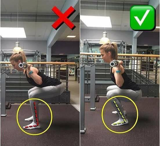 Сorrect exercises position on the squat