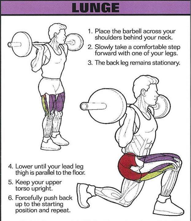 Сorrect exercises: Lunge