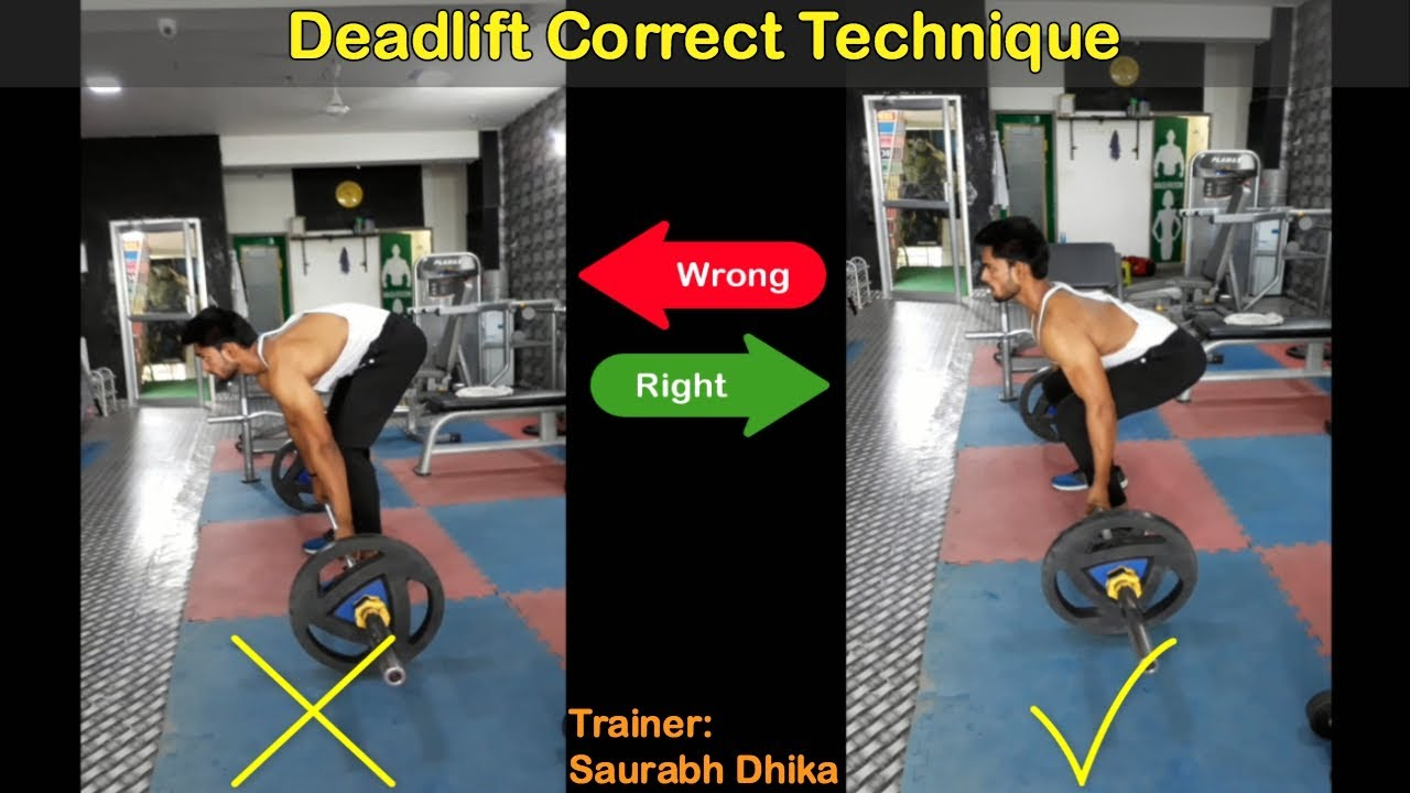 Barbell Deadlift (Rod): Wrong VS Right Form