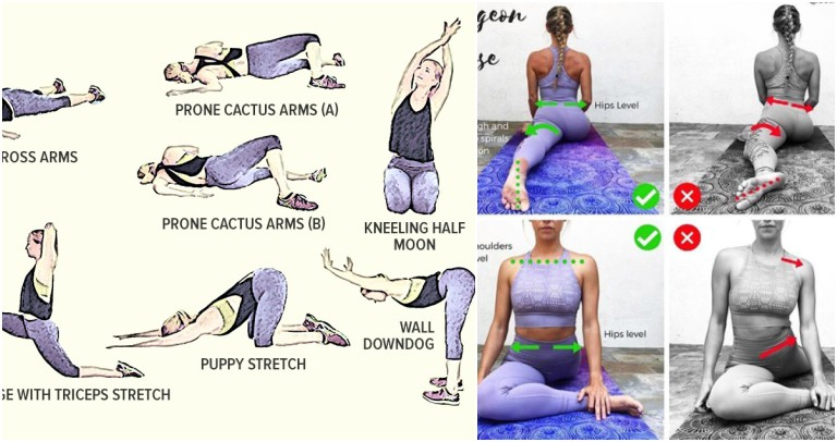 Yoga and Stretching Exercises & Correct Form