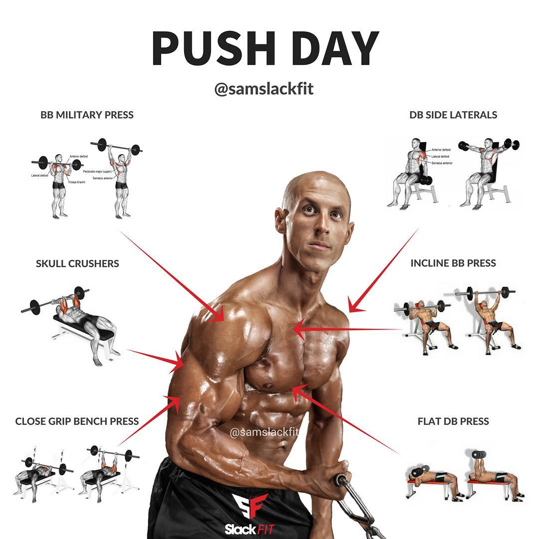 PUSH DAY - weighteasyloss.com - Fitness Lifestyle ...