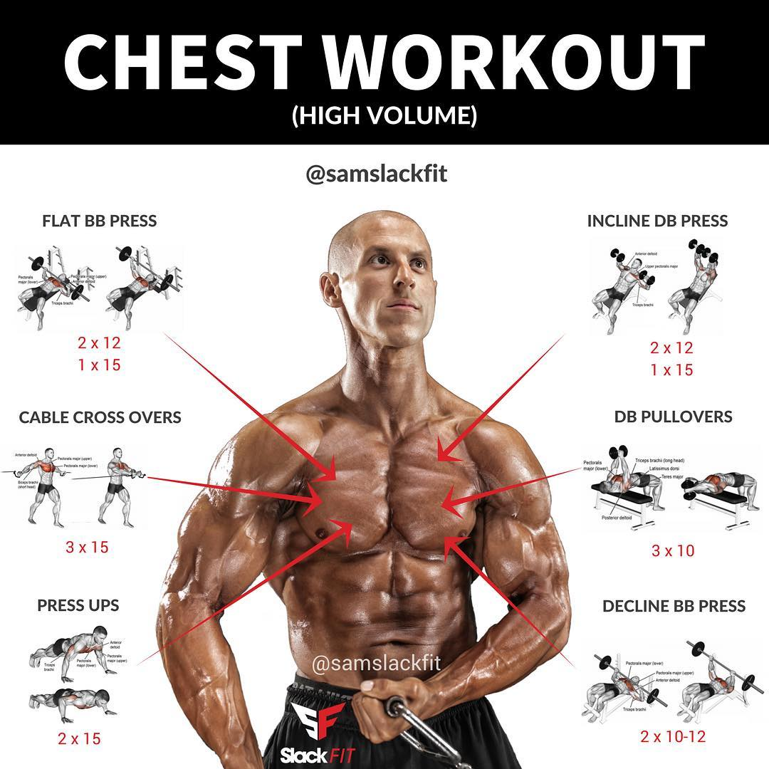 how to work different parts of the chest