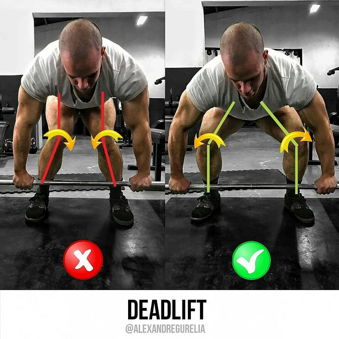 correct kneeling when doing deadlift