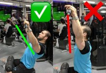 Back exercises | thrust of the upper block