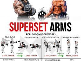 superset workout Arms