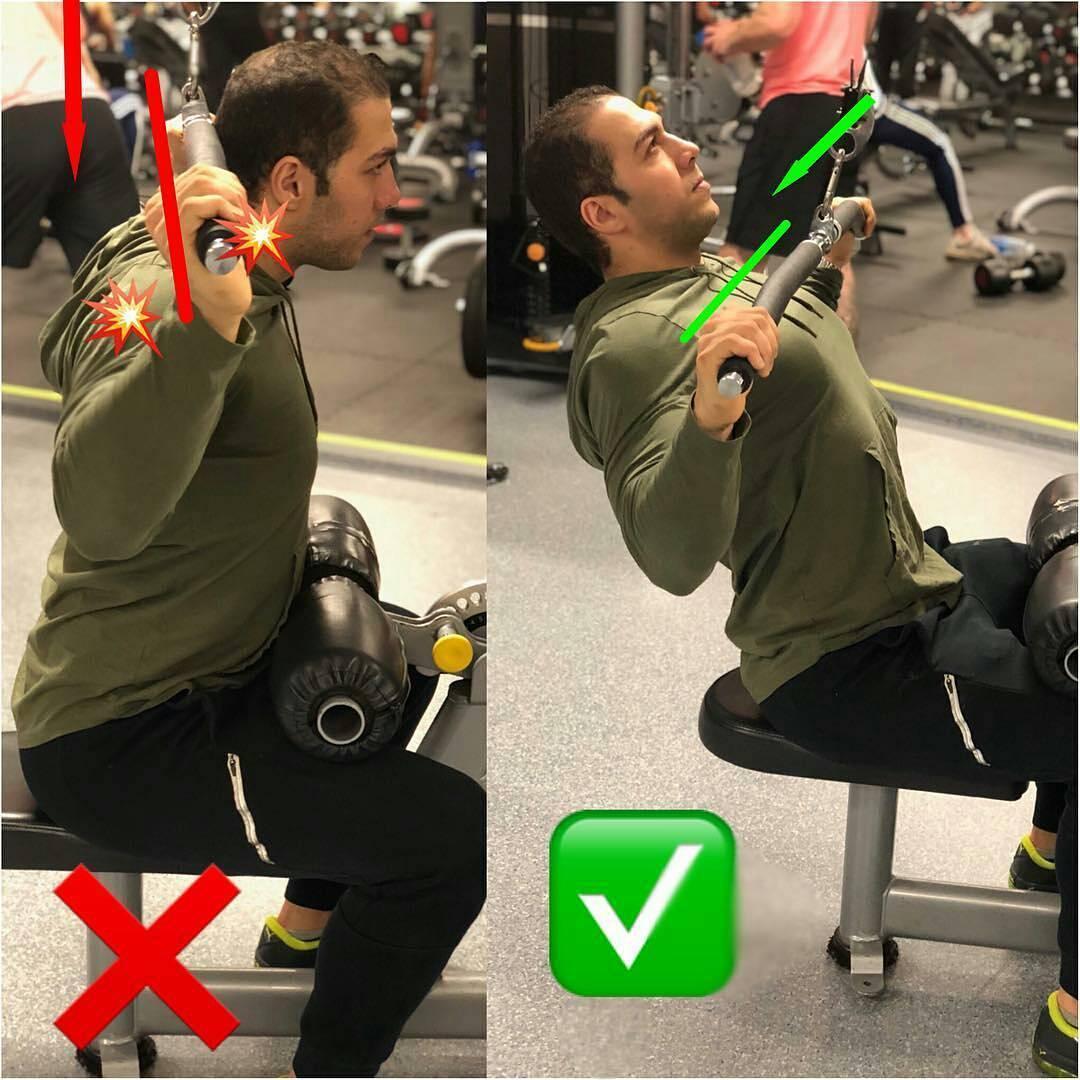 Back exercises   thrust of the upper block