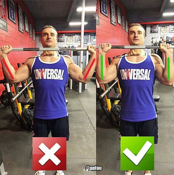 correctness of the exercise, barbell overhead