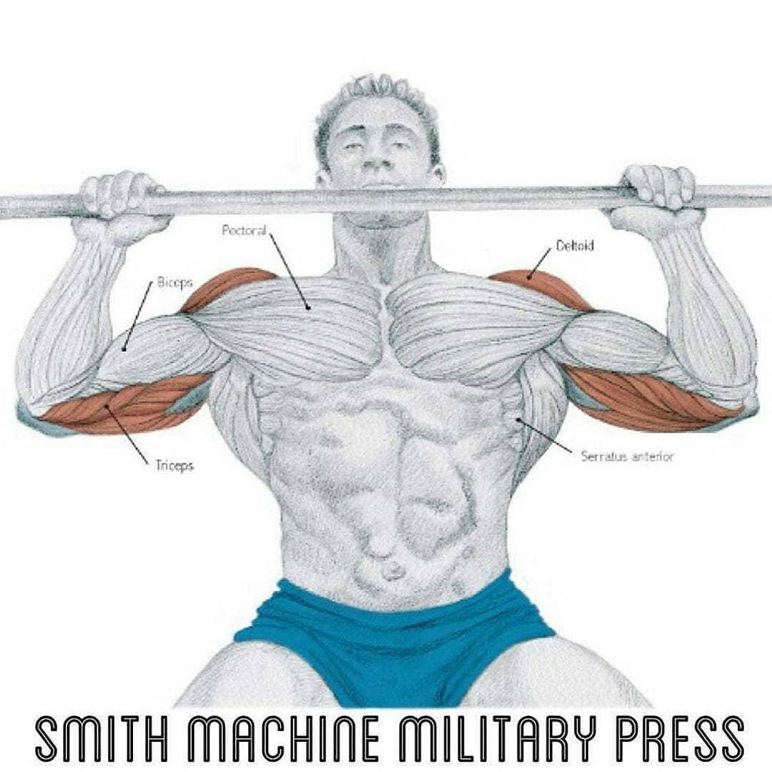 Smith machine military press