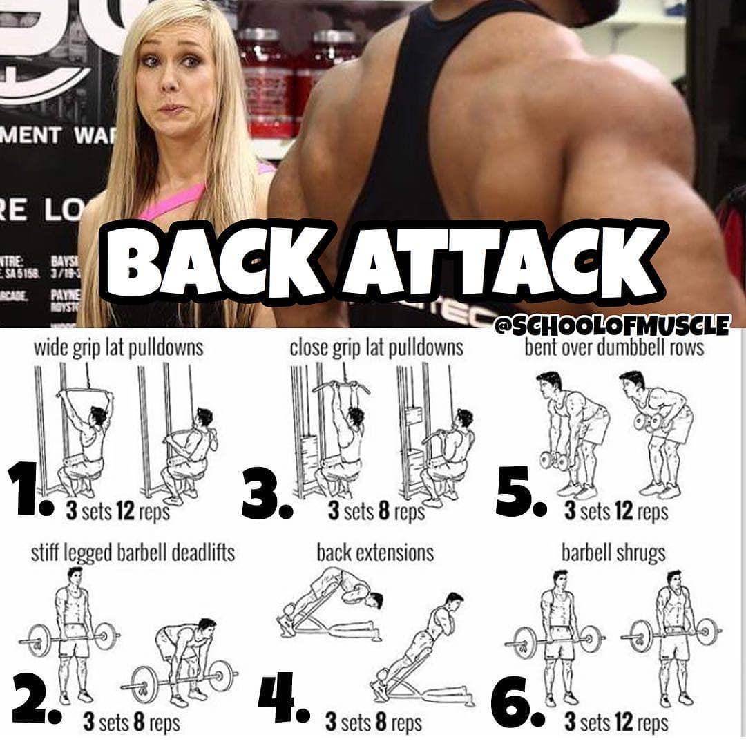 back attack exercises