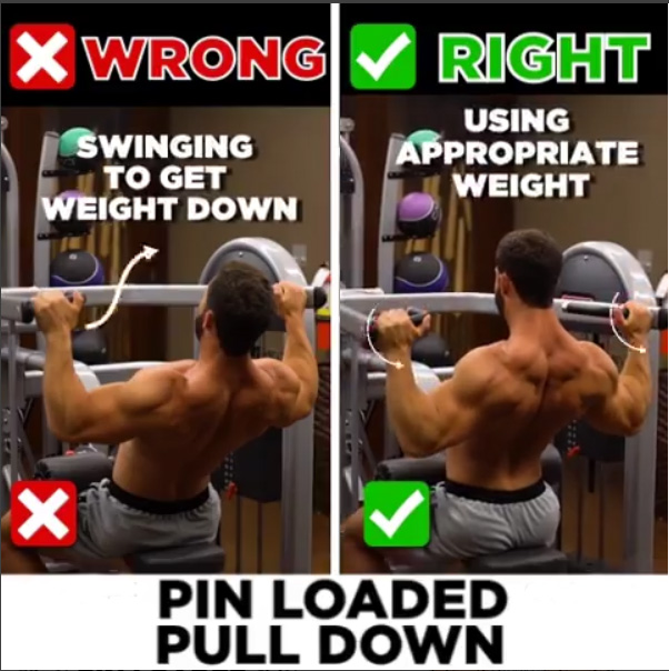 PIN LOADED PULL DOWN